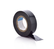 Roll of black sticky duct tape on white background Royalty Free Stock Photo