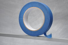 Roll of blue masking tape Stock Photos