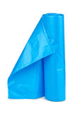 Roll of blue plastic garbage bags Royalty Free Stock Images