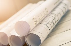 roll blueprint Royalty Free Stock Photography