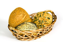 Roll Bread With Pumpkin And Poppy Seeds On Royalty Free Stock Image