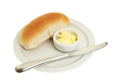 Roll and butter Royalty Free Stock Photos