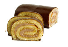 Roll cake Stock Image