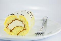 Roll cake chocolate Stock Photography