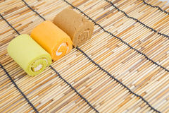 Roll cake Royalty Free Stock Photos