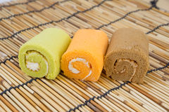 Roll cake Stock Image