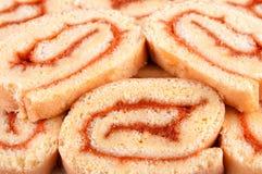 Roll cake dessert Stock Images