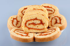 Roll cake dessert Stock Image