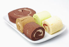 Roll cake group Stock Photography