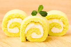 Roll cake Stock Images