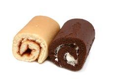 Roll cakes Stock Photos