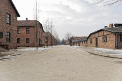 Roll-call Square and Camp Kitchen at  Auschwitz 1 Royalty Free Stock Photo