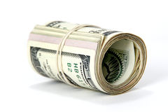Roll of cash. Roll of American cash - currency, dollar bills