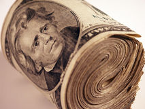 Roll of cash. Roll of US money Royalty Free Stock Image