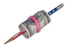 Roll of Cash. Royalty Free Stock Images
