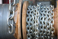 Roll with chain Royalty Free Stock Photo