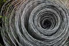 Roll of chicken wire.  royalty free stock image