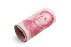 Roll of Chinese bills Stock Image