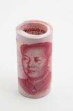 Roll of Chinese bills Royalty Free Stock Photo