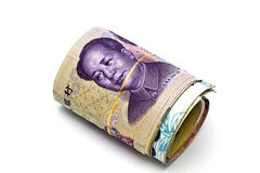 Roll of chinese money Stock Images
