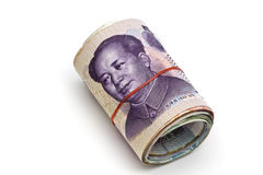 Roll of chinese money Stock Photo