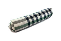 Roll cloth checkered. On white background Stock Photography