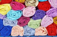 Roll cloths fabric Royalty Free Stock Photos