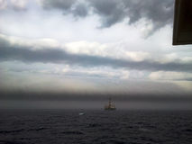 Roll Cloud 2. Picture of Roll Cloud, South Atlantic Ocean, Offshore Brazil. An arcus cloud is a low, horizontal cloud formation. Roll clouds and shelf clouds are stock photography