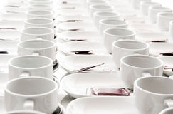 Roll of coffee cup for seminar Royalty Free Stock Photo