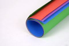 Roll of color paper Stock Image