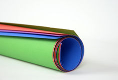 Roll of color paper Stock Images
