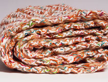 Roll of colourful scarf Stock Images