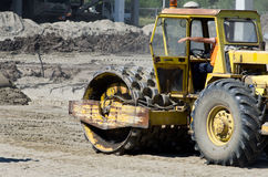 Roll compactor Stock Image