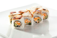 Roll with Crab Meat Stock Images