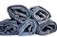Roll denim jeans Royalty Free Stock Photos