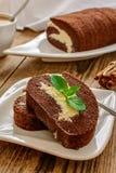 Roll dessert Stock Photography
