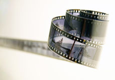Roll of developted slide film Stock Image