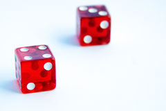 Roll the Dice. Rolling these dice produces a seven (7). An easy picture to integrate into other documents royalty free stock photography