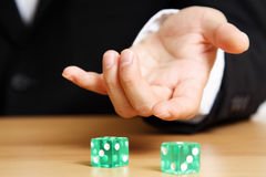 Roll a dice Stock Image