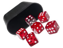 Roll of the dice Royalty Free Stock Photos