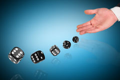 Roll the dice Royalty Free Stock Images