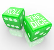 Roll the Dice - Words on Cubes vector illustration