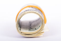Roll of Dollar Banknotes Royalty Free Stock Image