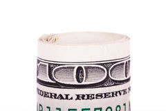 Roll of Dollar Banknotes Royalty Free Stock Photos