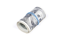 Roll of dollar banknotes Stock Image