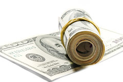 Roll of dollar bills Royalty Free Stock Images