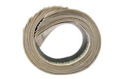 Roll of dollar bills. Money roll, roll of bills, roll of dollar bills Royalty Free Stock Images