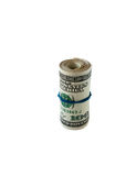 Roll of 100 dollar bills Stock Photos