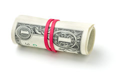 Roll of dollar notes Royalty Free Stock Photo