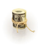 Roll of dollar's banknotes Stock Photography
